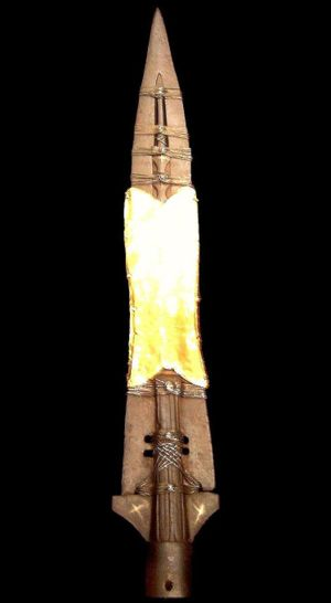 The Holy Lance in the Schatzkammer of Vienna