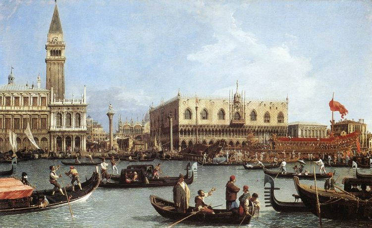 Canaletto_Return_of_the_Bucentoro_to_the_Molo_on_Ascension_Day,_1732._Royal_Collection._Windsor.